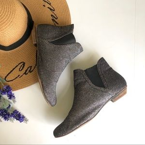 ASOS ankle glitter booties size 6